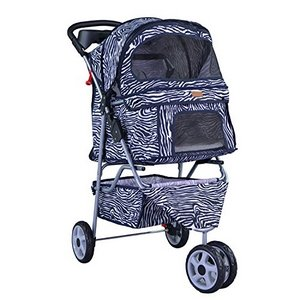 BestPet Three-Wheel Cat Stroller