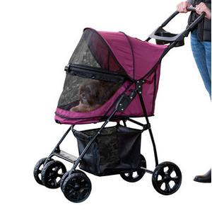Pet Gear No-Zip Happy Trails Cat Stroller