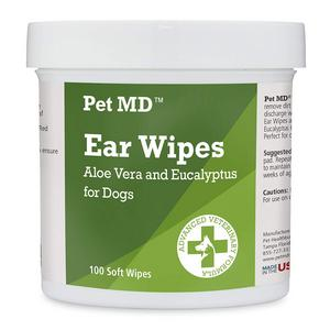 Aloe Vera And Eucalyptus Dog Ear Wipes By Pet MD